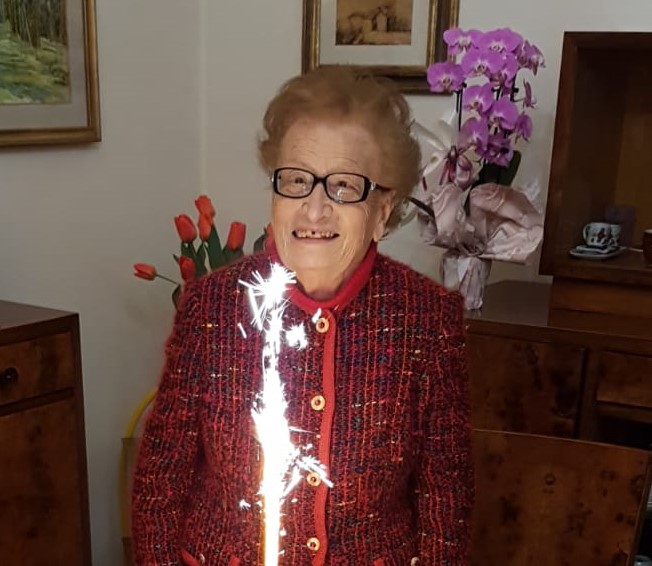 Una giovane centenaria in casa A.L.Bo.