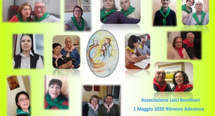 Primo Maggio 2020, diciannovesimo anniversario della nascita dell'A.L.Bo. festa per la famiglia Carismatica Nazareno – Bonilliana